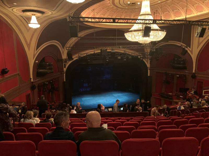 Seating view for Broadway Theatre - 53rd Street Section Rear Mezzanine L Row L Seat 120