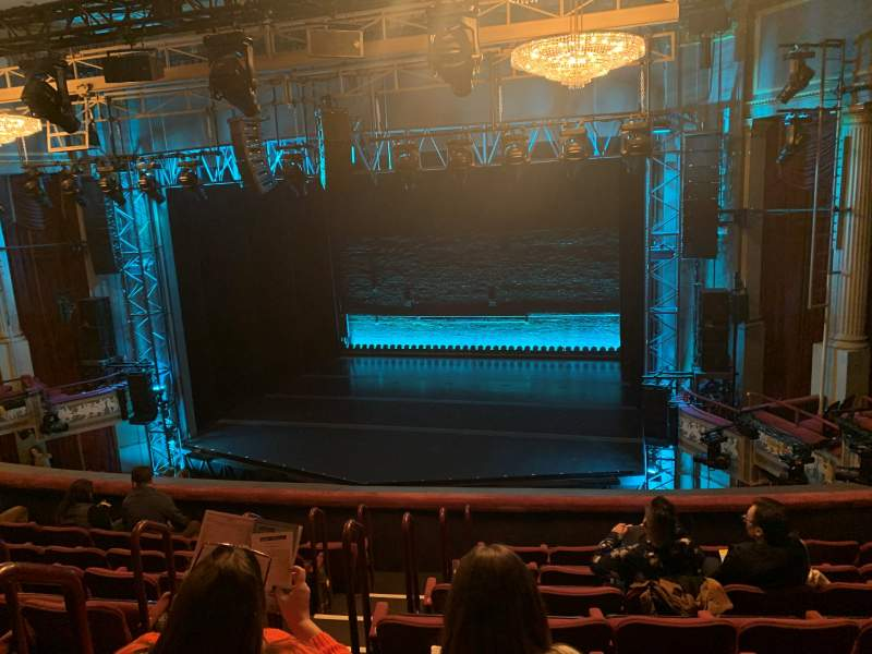 Seating view for Broadhurst Theatre Section Mezzanine R Row H Seat 6