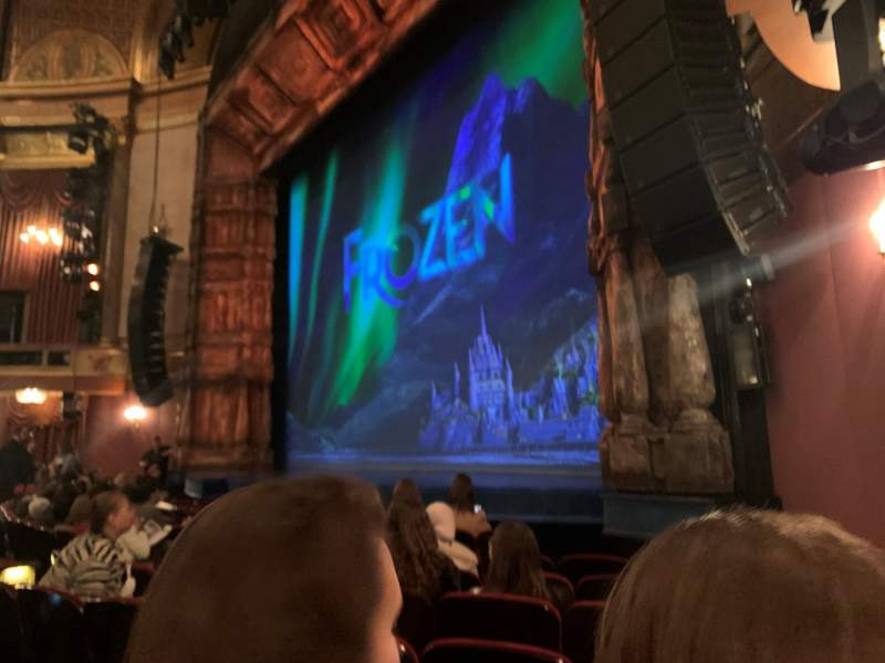 Seating view for St. James Theatre Section Orchestra R Row G Seat 24