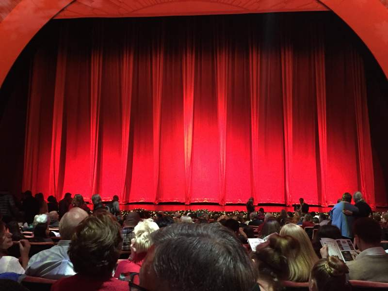 Seating view for Radio City Music Hall Section Orchestra 4 Row RR Seat 403