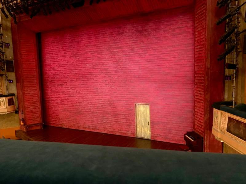 Seating view for Shubert Theatre Section Mezzanine R Row A Seat 10