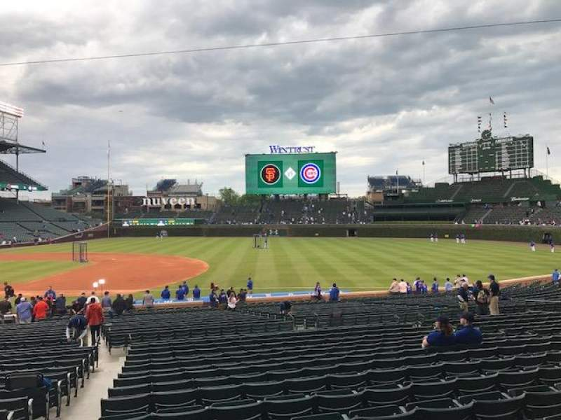 Wrigley Field Section 124 Home Of Chicago Cubs