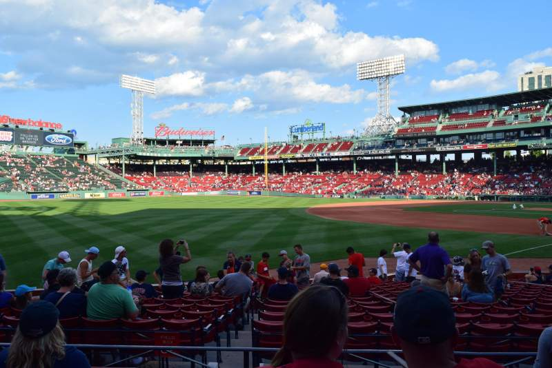 Seating view for Fenway Park Section Loge Box 163 Row FF Seat 2