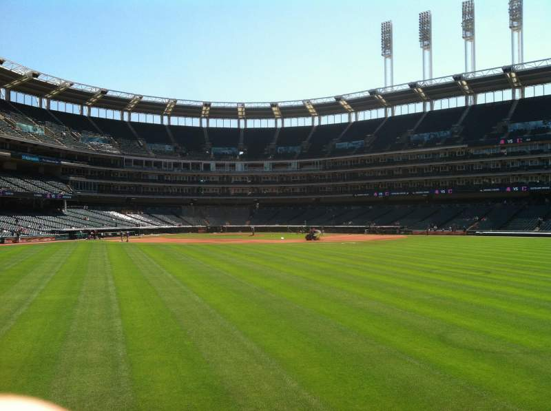 Seating view for Progressive Field Section 101 Row 2