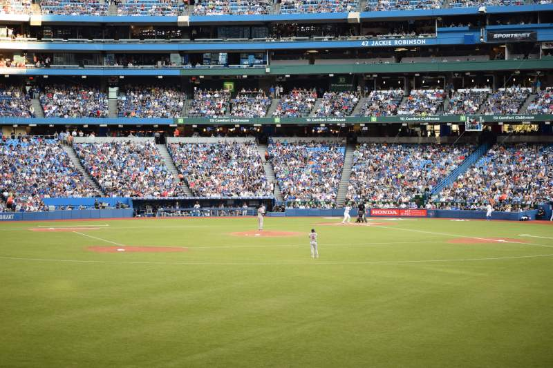 Seating view for Rogers Centre Section 139 Row 1