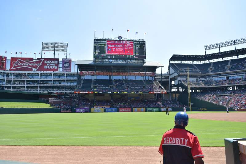 Seating view for Globe Life Park in Arlington Section 15 Row 1