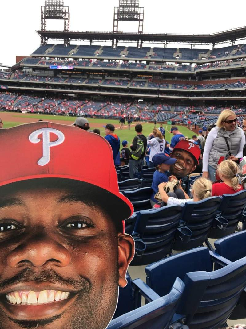 Seating view for Citizens Bank Park Section 138 Row 9 Seat 6