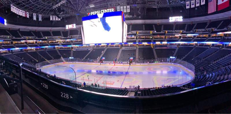 Seating view for Pepsi Center Section 228 Row 2 Seat 6