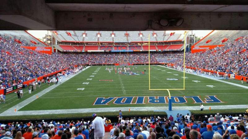 Seating view for Ben Hill Griffin Stadium Section E Row 27 Seat 17
