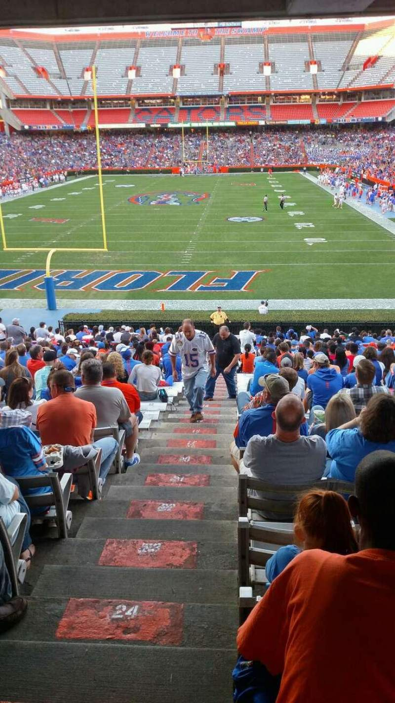 Seating view for Ben Hill Griffin Stadium Section D Row 27 Seat 12