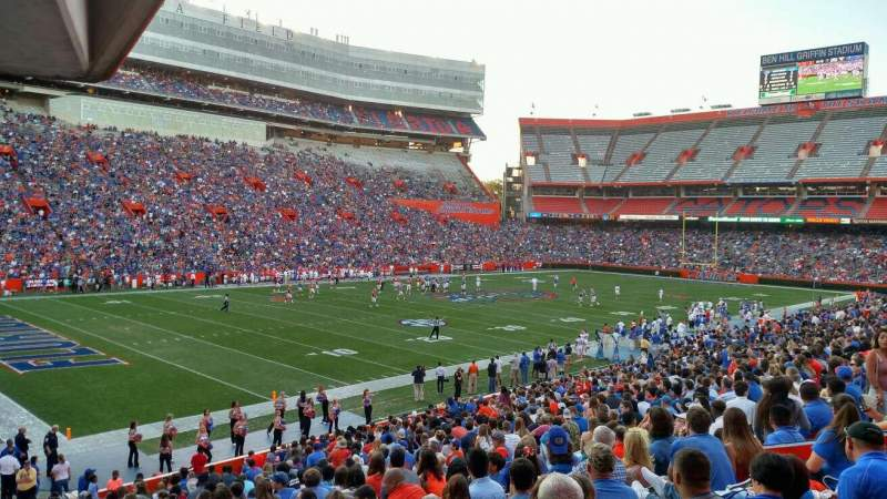 Seating view for Ben Hill Griffin Stadium Section A Row 23 Seat 18