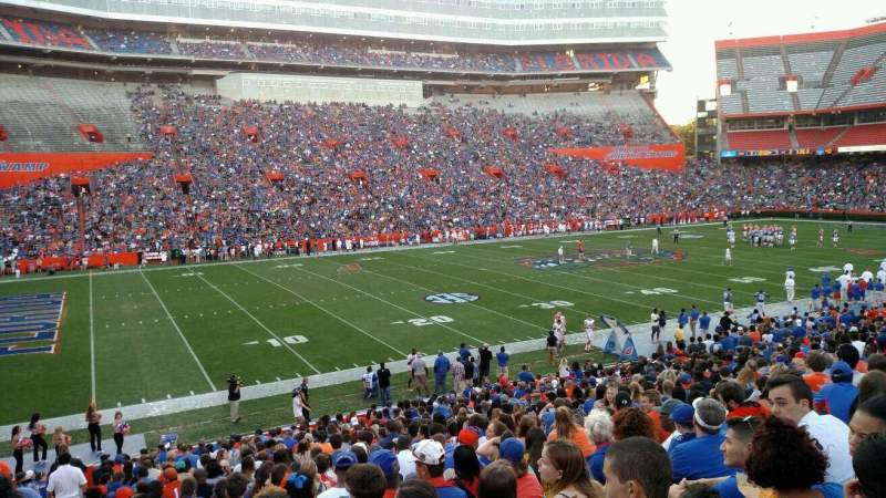 Ben Hill Griffin Stadium, section: 41, row: 20, seat: 10