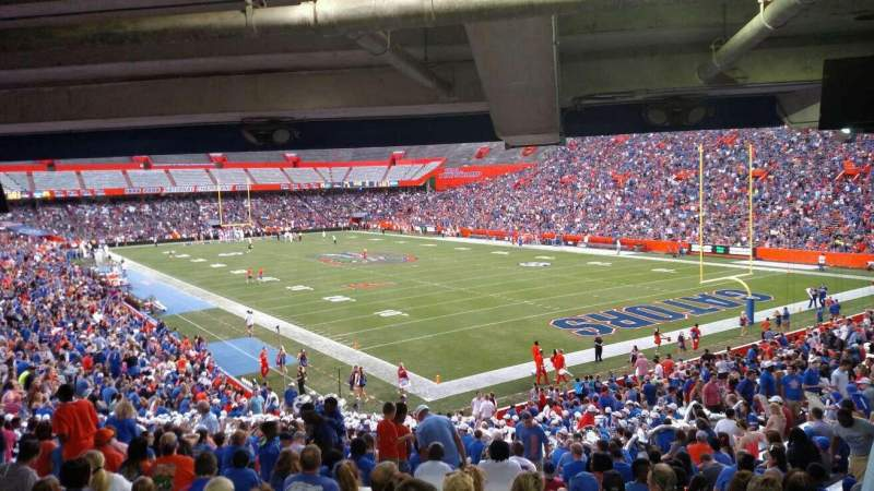 Seating view for Ben Hill Griffin Stadium Section 26 Row 36 Seat 9