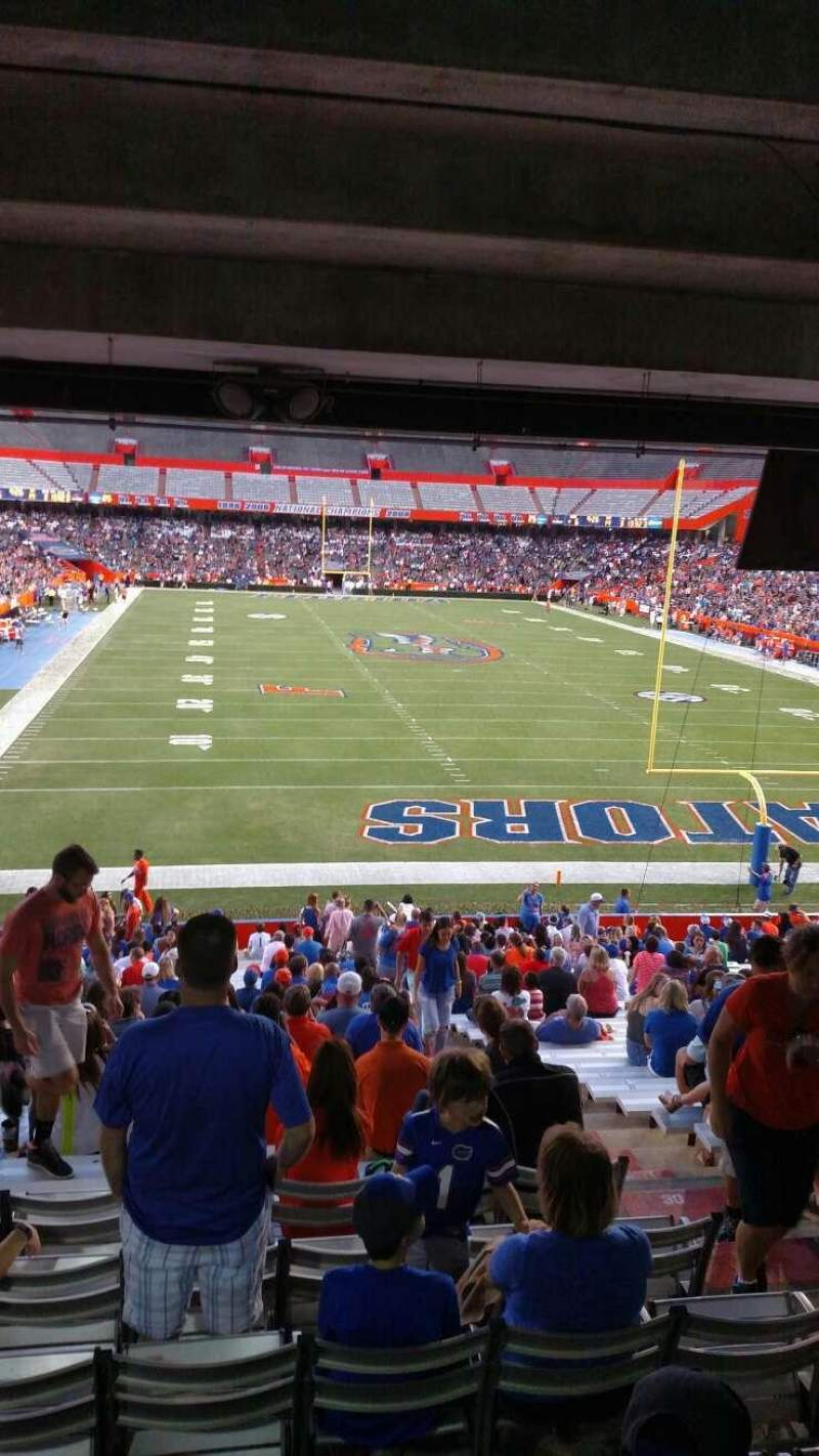 Seating view for Ben Hill Griffin Stadium Section 25 Row 32 Seat 16