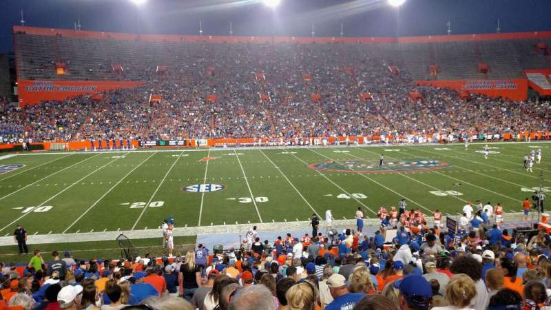 Seating view for Ben Hill Griffin Stadium Section 11 Row 32 Seat 14