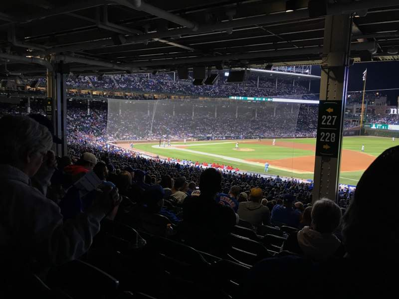 Seating view for Wrigley Field Section 228 Row 16 Seat 6
