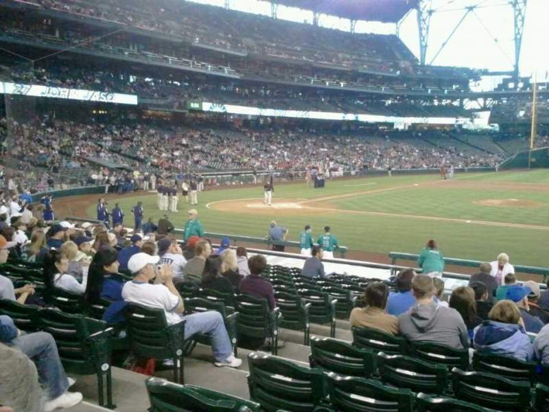 Seating view for Safeco Field Section 122 Row 19 Seat 9