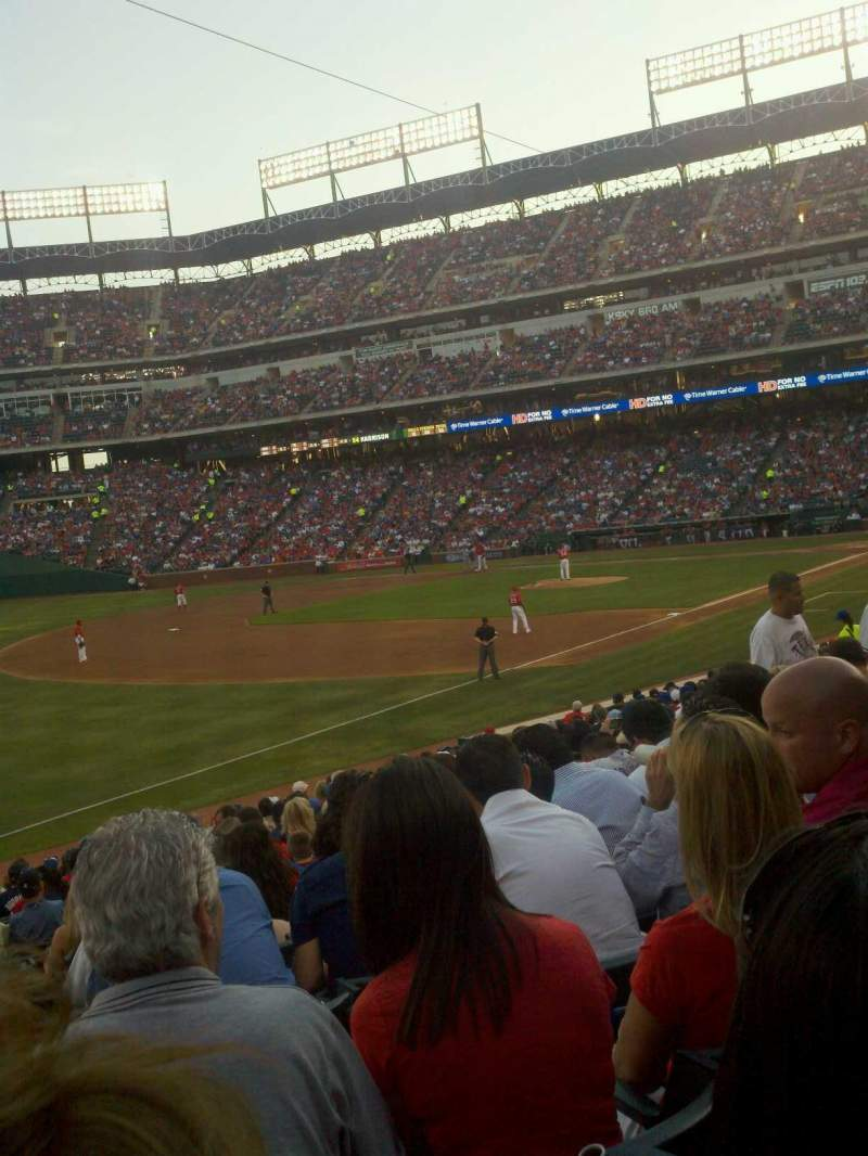 Seating view for Globe Life Park in Arlington Section 13 Row 20 Seat 5