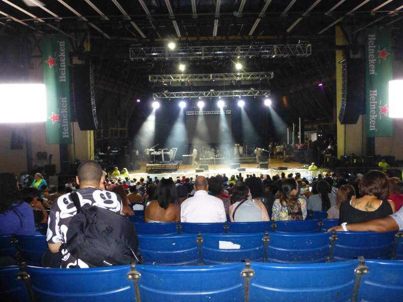 Seating view for Merriweather Post Pavilion Section Center Row S Seat 115