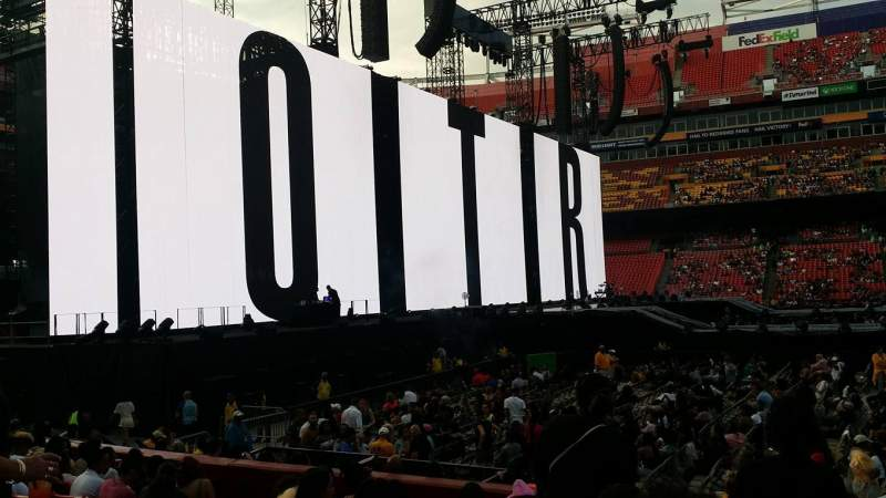 Seating view for FedEx Field Section 101 Row L Seat 19