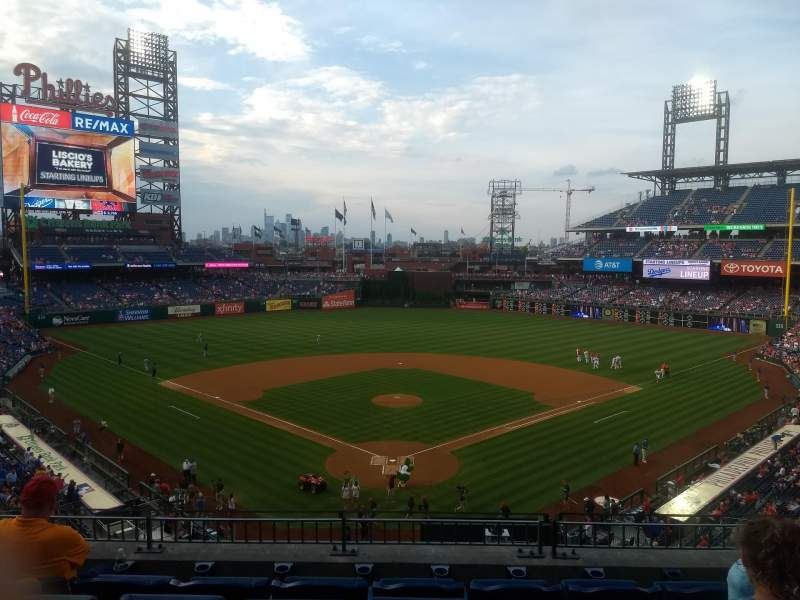 Seating view for Citizens Bank Park Section 222 Row 5 Seat 7