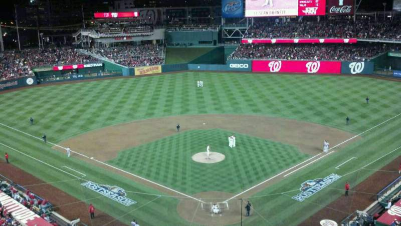 Seating view for Nationals Park Section 313 Row A Seat 4