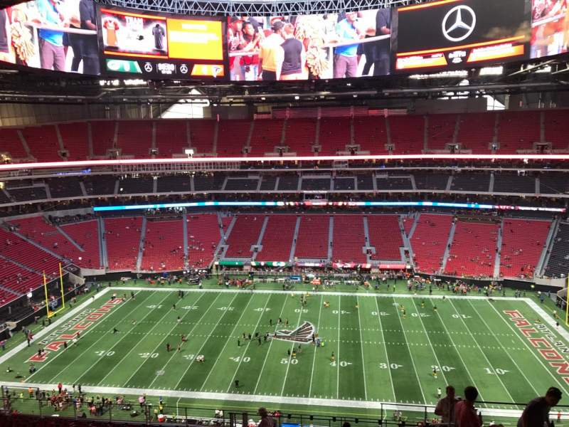 Seating view for Mercedes-Benz Stadium Section 311 Row 15 Seat 5
