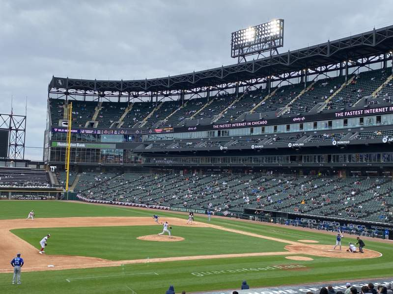 Seating view for Guaranteed Rate Field Section 142 Row 26 Seat 2