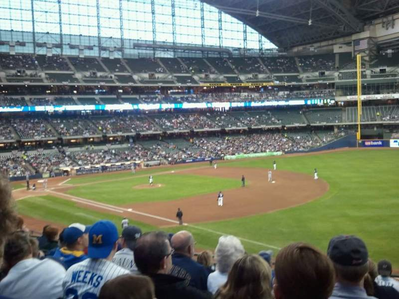 Seating view for Miller Park Section 209 Row 8 Seat 17