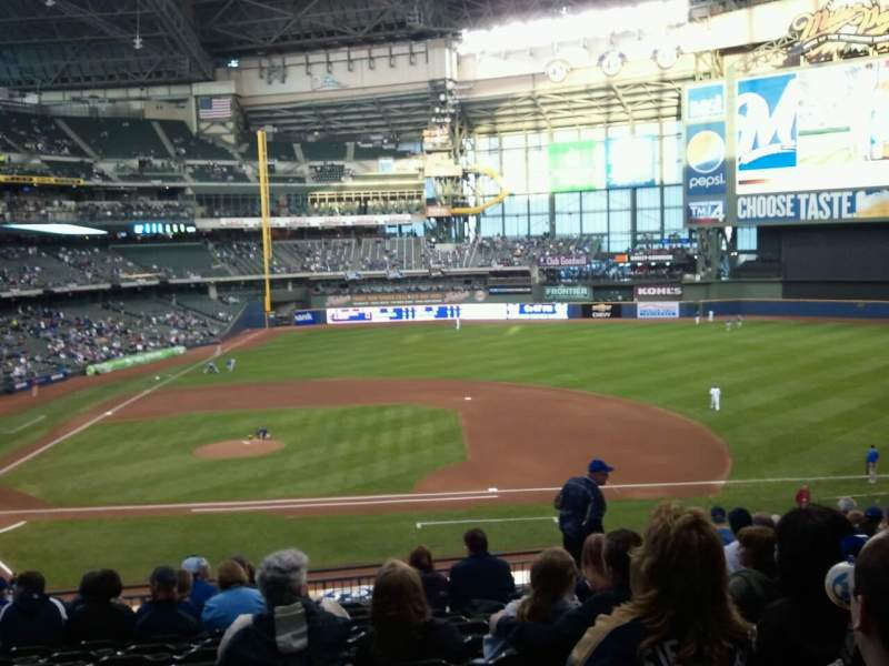Seating view for Miller Park Section 213