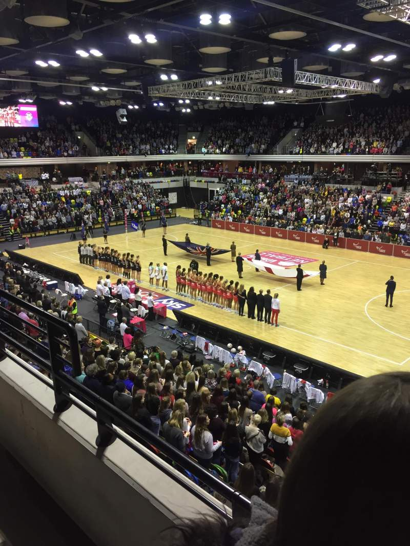 Seating view for Copper Box Arena Section 210 Row 12 Seat 37