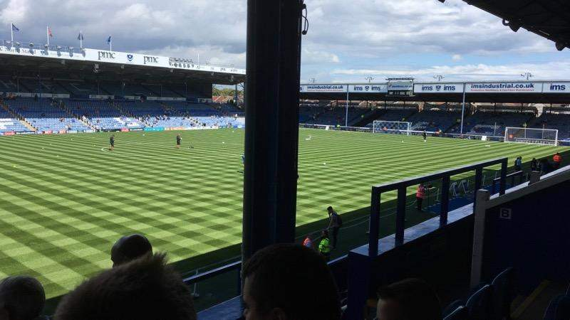 Seating view for Fratton Park Section SA2 Row H Seat 63
