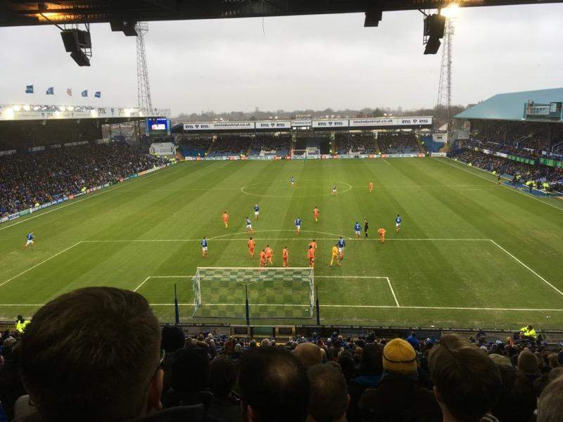 Seating view for Fratton Park Section Fratton End Row 4th from back
