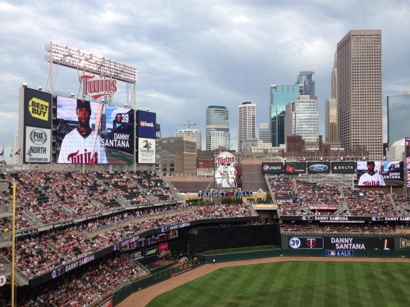 Target Field, section: 324, row: 1, seat: 1