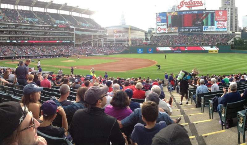 Seating view for Progressive Field Section 136 Row W Seat 1