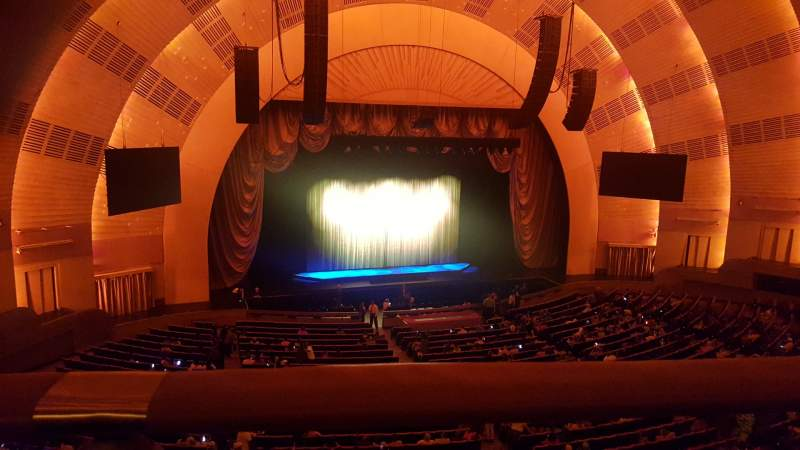 Seating view for Radio City Music Hall Section 2nd Mezzanine 6 Row A Seat 604