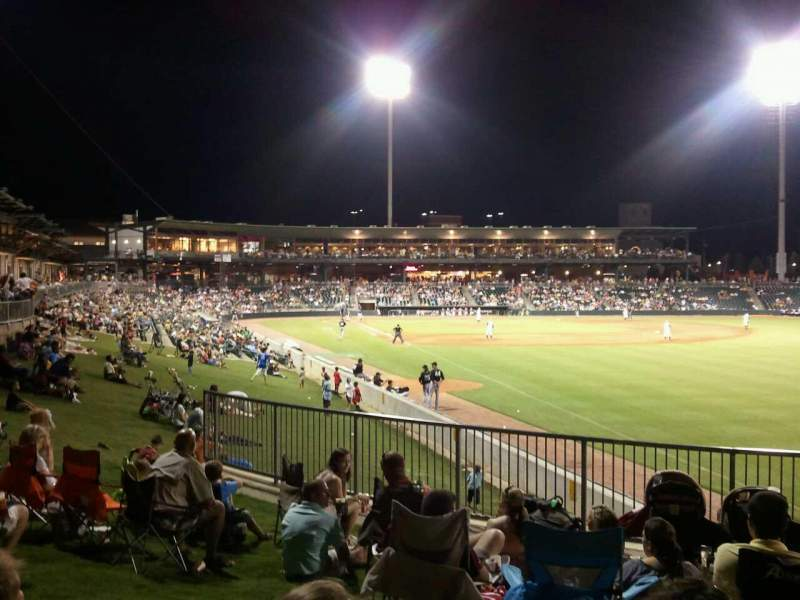 Seating view for Montgomery Riverwalk Stadium Section lawn