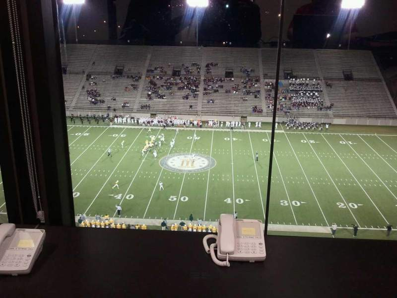 Seating view for Cramton Bowl Section Press box