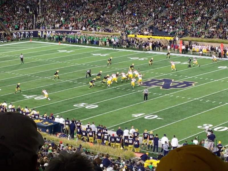 Seating view for Notre Dame Stadium Section 125 Row 7 Seat 11