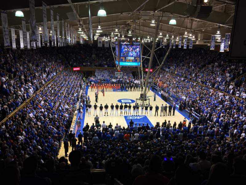 Seating view for Cameron Indoor Stadium Section 2 Row O Seat 2
