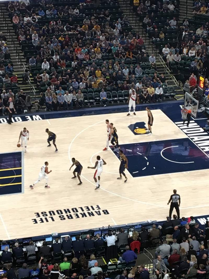 Seating view for Bankers Life Fieldhouse Section 209 Row 3 Seat 7