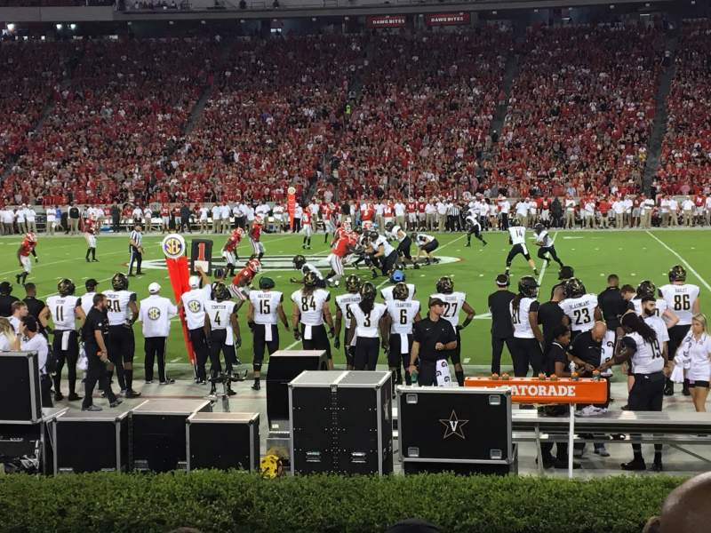 Seating view for Sanford Stadium Section 106 Row 8 Seat 9