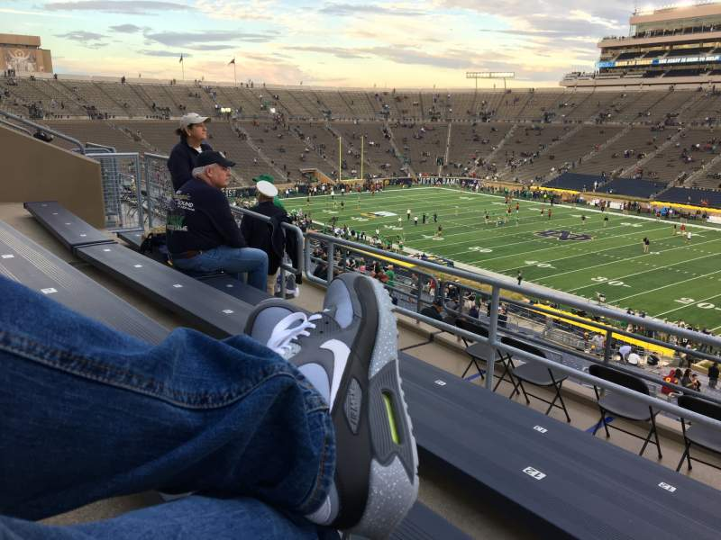 Seating view for Notre Dame Stadium Section 125 Row 7 Seat 12