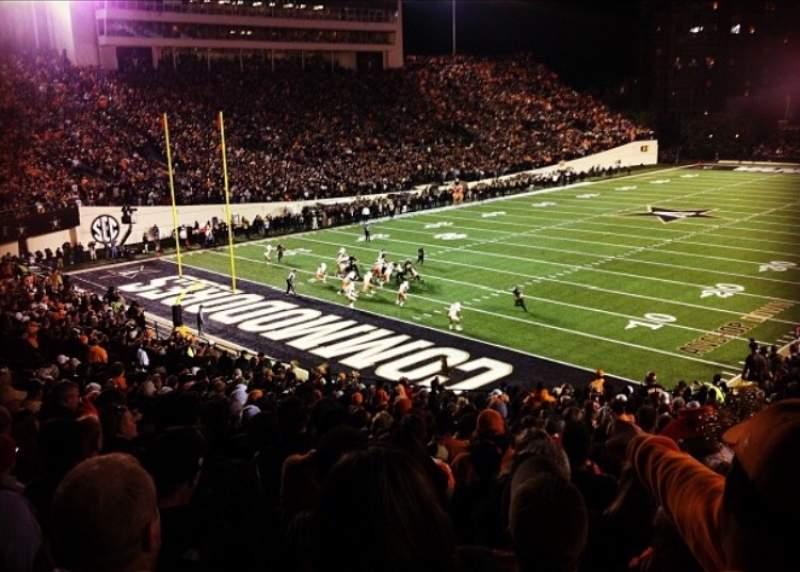 Seating view for Vanderbilt Stadium Section M Row 29 Seat 15