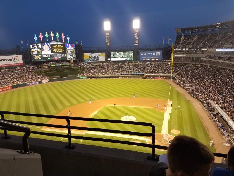 Seating view for Guaranteed Rate Field Section 536 Row 3 Seat 10