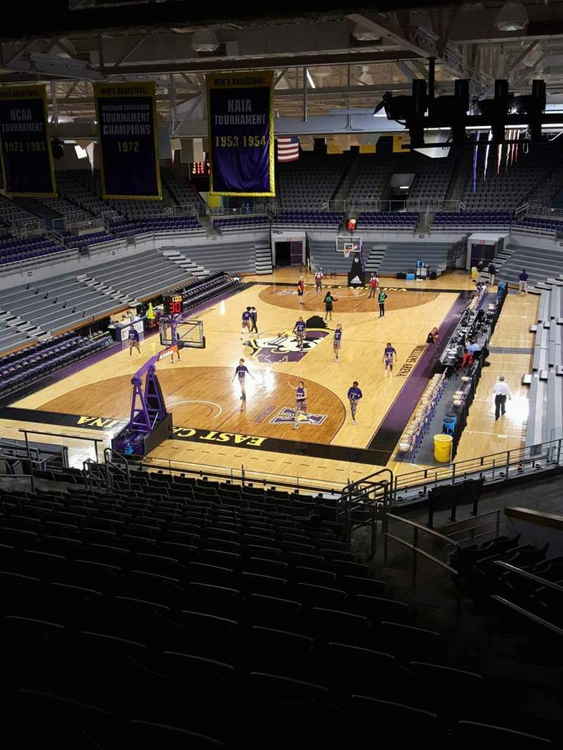 Seating view for Williams Arena at Minges Coliseum Section 202 Row R Seat 2