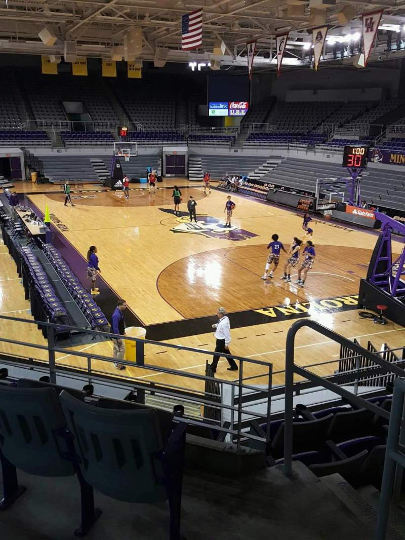 Seating view for Williams Arena at Minges Coliseum Section 205 Row F Seat 1