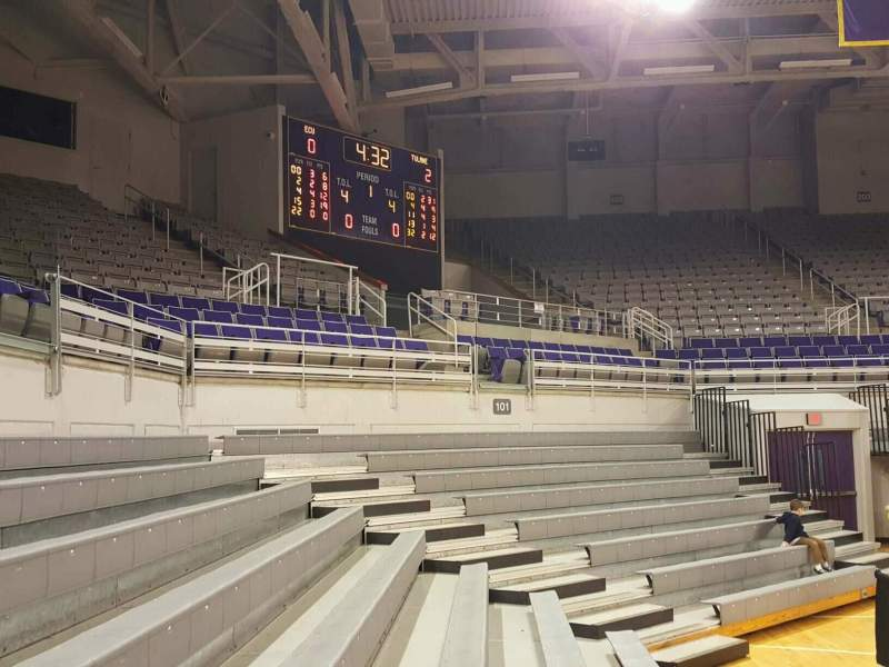 Seating view for Williams Arena at Minges Coliseum Section 114 Row 3 Seat 3