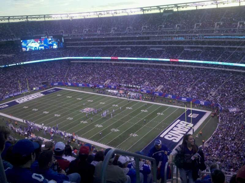 Seating view for MetLife Stadium Section 307 Row 18 Seat 31