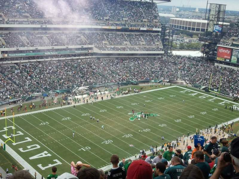 Seating view for Lincoln Financial Field Section 219 Row 21 Seat 18